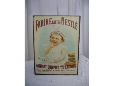 plaque publicitaire vintage NESTLE